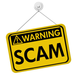 Warning sign: scam